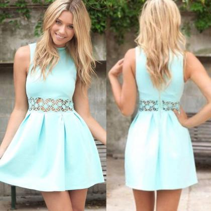 Green Homecoming Dresses Zippers Sl..