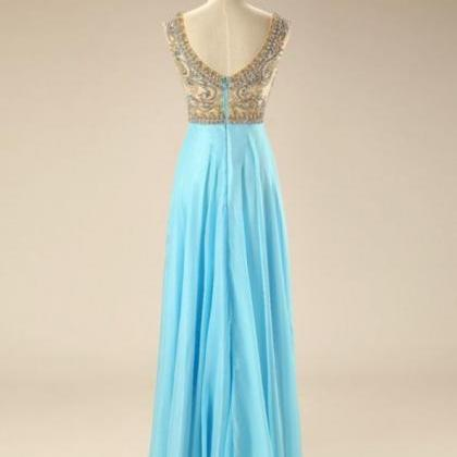 Blue Homecoming Dresses Zipper-Up S..