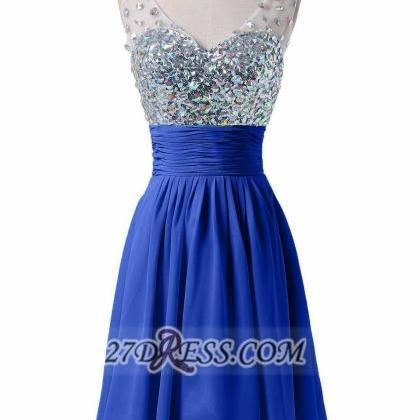 Royal Blue Homecoming Dresses Zippe..