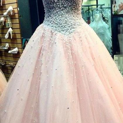 Pretty Sweetheart Beading Ball Gown..