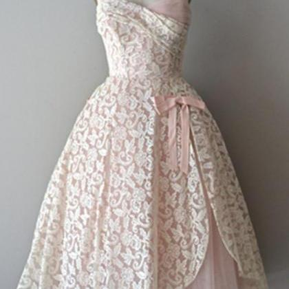 Strapless Lace Pink Pretty Handmade..