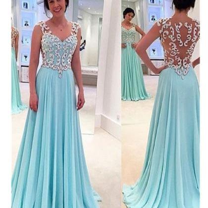 Sky Blue Prom Dresses,Timeless A-Li..