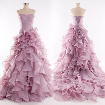 Hand Made Ball Gown Sweetheart Pink..