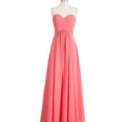peach bridesmaid dress, Long brides..