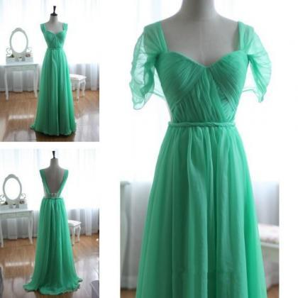 Pretty Sweetheart Backless Green Fl..