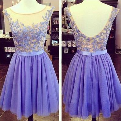 purple prom dress, short prom dress..
