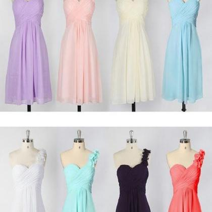 Cute bridesmaid dress, One Shoulder..