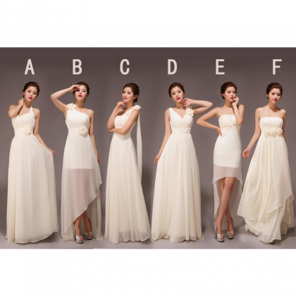 champagne bridesmaid dresses, long ..