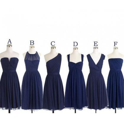 Navy bridesmaid dresses, cheap brid..
