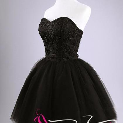 Black Short Prom Dress Simple Ball ..