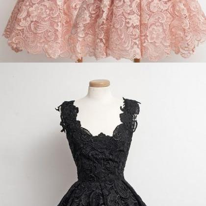 Cute Ball Gown Lace Homecoming Gown..