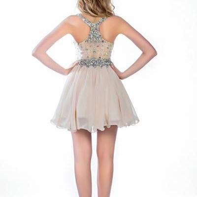 Champagne Homecoming Dress Elegant ..