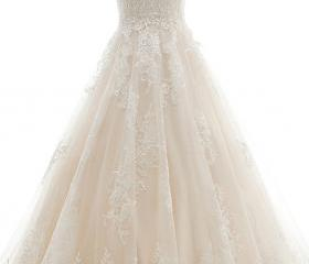 A-line Wedding Dress..