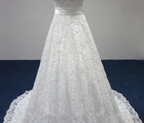 Lace Wedding Dress,A..