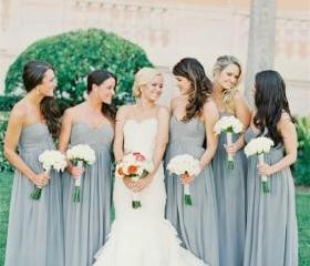 Gray Bridesmaid Dres..