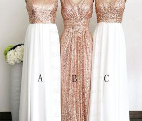 Gold sequin bridesma..