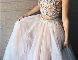 two piece prom dress..