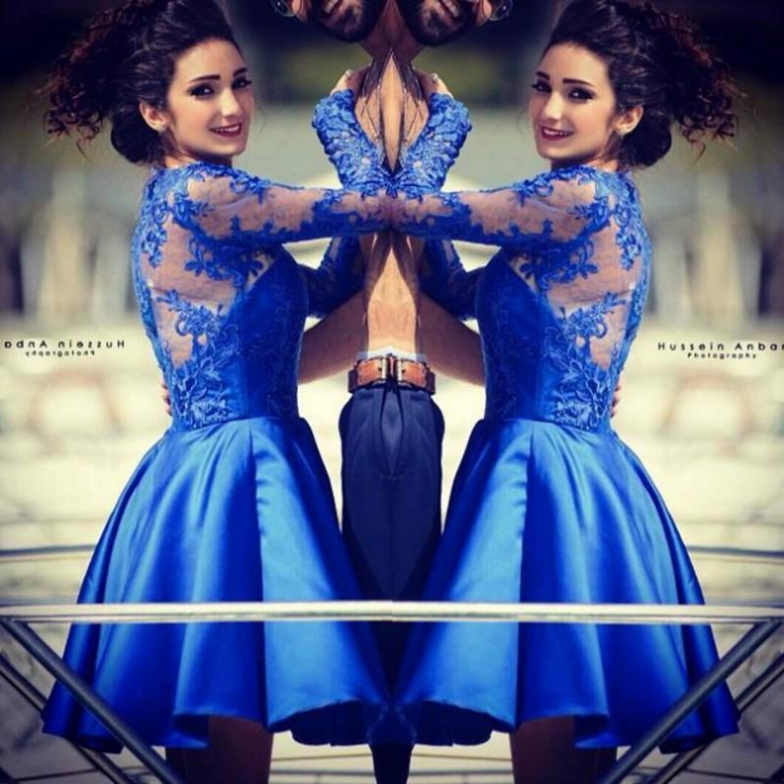 2017 Homecoming Dresses Long Sleeve Jewel Floor-Length Applique On Sale Zipper Dresses