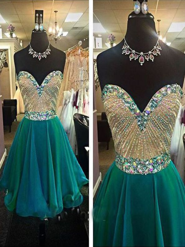 Green Homecoming Dresses Zippers Sleeveless A-Line/Column Sweetheart Neckline Above Knee Rhinestone
