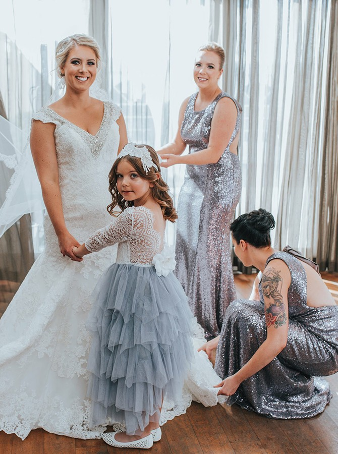 Open Back Bridesmaid Dresses, Silver Party Dresses BOHO429388