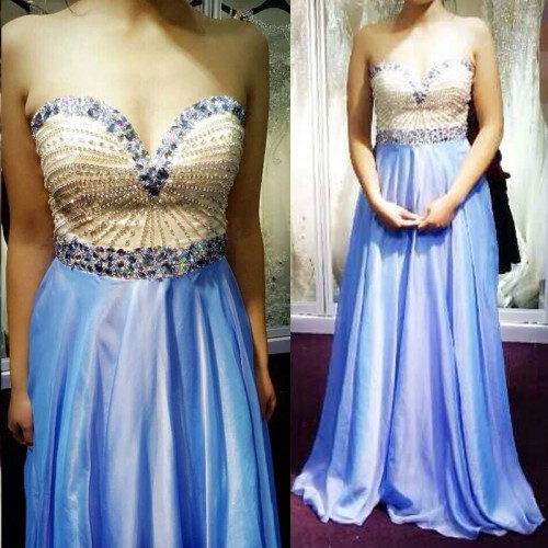 blue prom dress, formal prom dress, chiffon prom dress, cheap prom dress, prom dress 2017,PD3800105