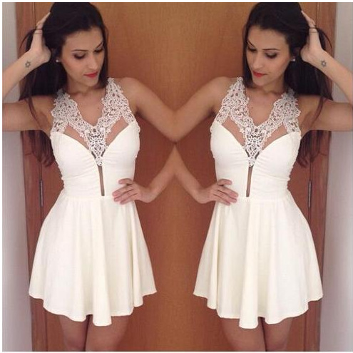 white prom dress, cheap prom dress, short prom dresses, prom dress 2017, online prom dress ,15032001
