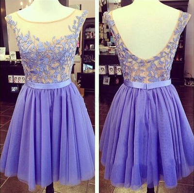 purple prom dress, short prom dress, lace prom dress, cheap prom dress, pretty prom dress, homecoming dress,15040610