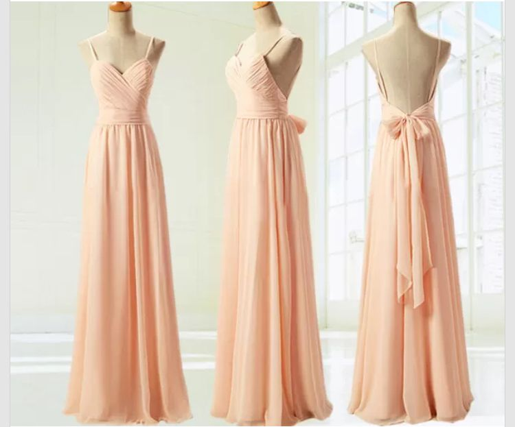 5cd7fe66d53a Spaghetti Strap Blush Pink Bridesmaid Dresses