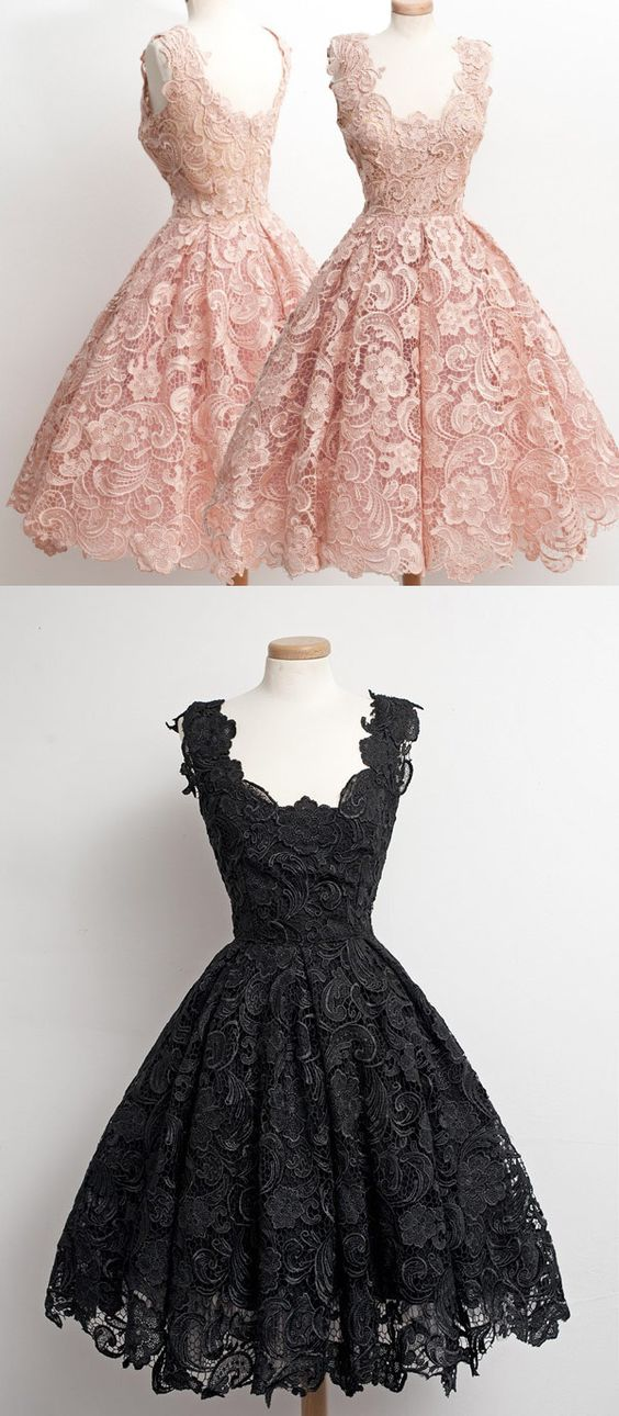 Cute Ball Gown Lace Homecoming Gown For Teens Black Homecoming Dress Sweet 16 Gowns