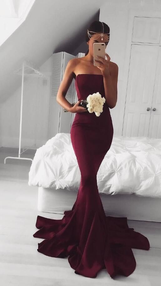 d40f7bb62ba0 New Design Princess Burgundy Prom Dress Sexy Evening Gowns Wine Red Sexy Prom  Gown