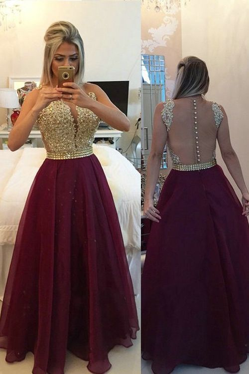 Prom Dresses with Buttons