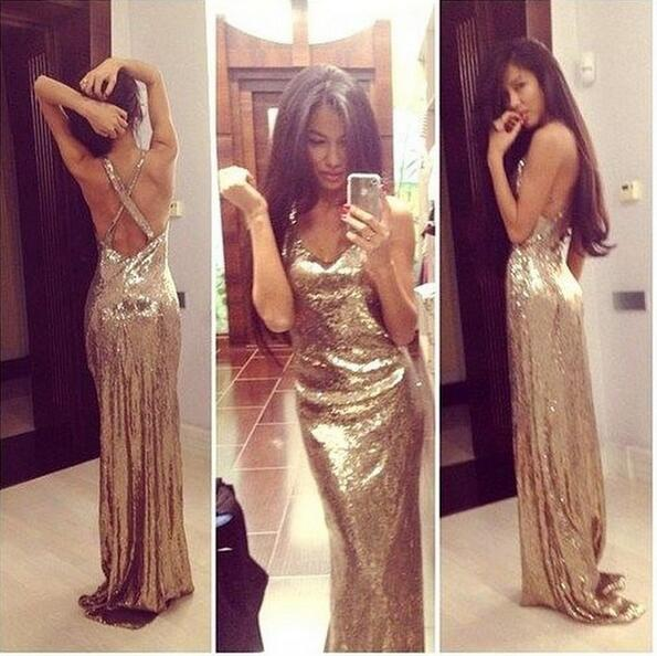 aea0eb96 Gold sequin prom dresses, backless prom dresses, prom dresses 2017, cheap prom  dresses, long prom dresses, prom dresses 2017, 17133