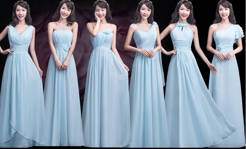 cf095986f9b1 mismatched chiffon bridesmaid dresses, long bridesmaid dresses, Blue bridesmaid  dresses, chiffon bridesmaid dresses, cheap bridesmaid dresses, 17056