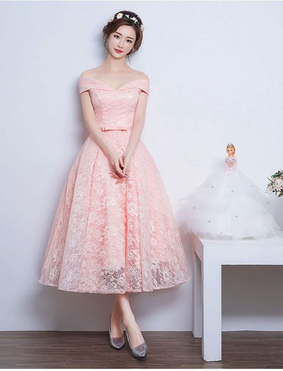 921b2d27c38 New Fashion Prom Dresses With Lace Prom Dress 1950s Audrey Hepburn Vintage  Inspired Off Shoulder Lace Prom Formal Dress Evening Gowns