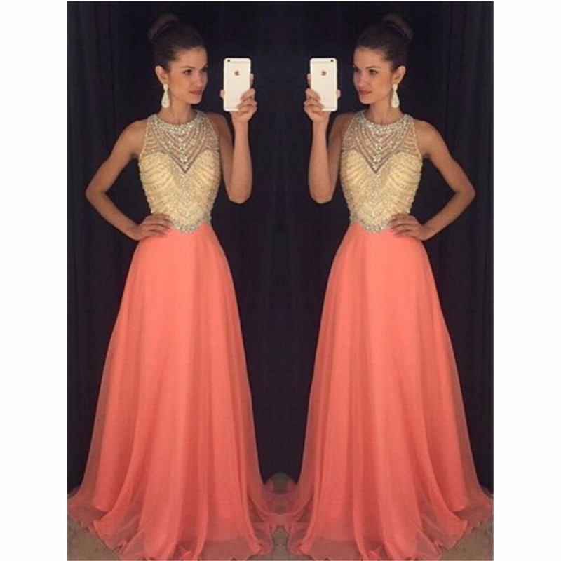 New Arrival Chiffon Prom Dress,Beading Prom Dress,Evening Formal Gown,Long Prom Dress