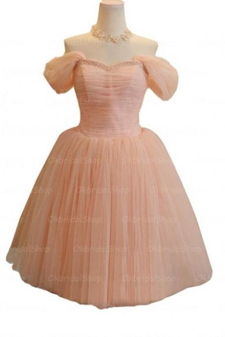 Pink Homecoming Dresses Zippers Off The Shoulder Empire Off Shoulder Mini Hem