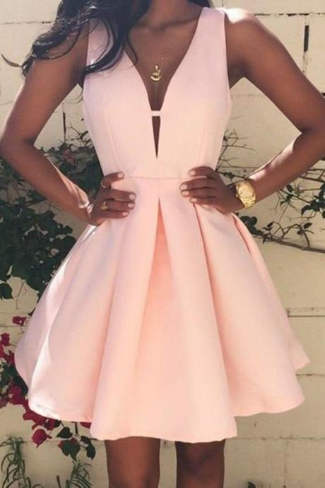 Pink Prom Dresses,Cute Homecoming dress,Short Prom Dress,Party Dress for Girls OK300