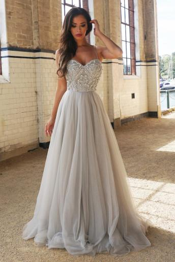 Princess A-Line Spaghetti Straps Floor-Length Beading Prom Dress\/Wedding Dresses OK151