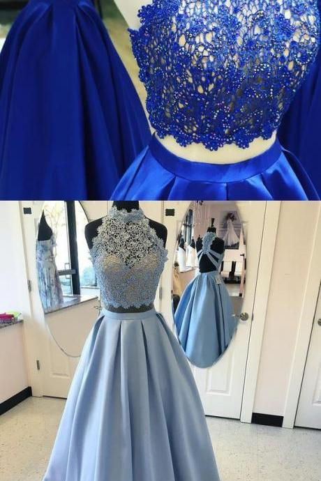 Sleeveless Prom Dresses High Neckline Prom Dresses Criss-Cross Prom Dresses Crossed Straps Prom Dresses