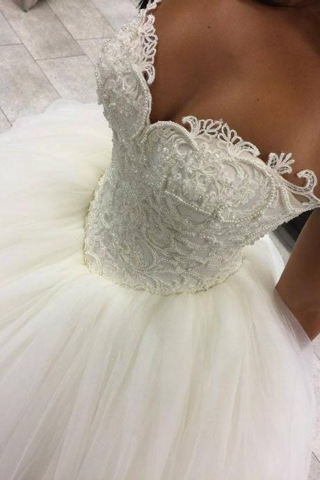 Ball Gowns Wedding Dresses Sweetheart Neckline Wedding Dresses Floor Length Wedding Dresses Tulle Wedding Dresses