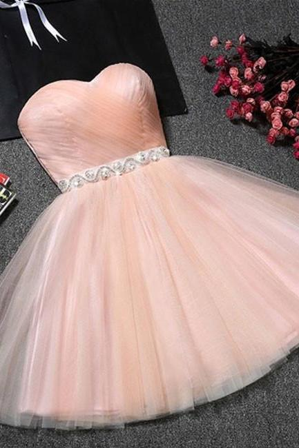 Mini Prom Dresses Tulle Prom Dresses Sleeveless Prom Dresses