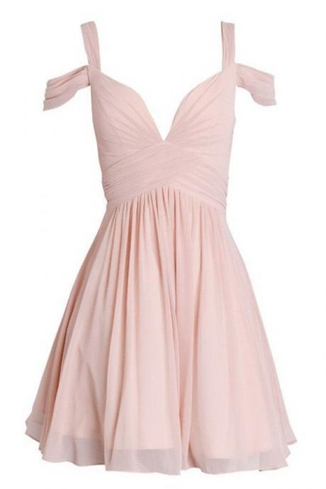 Off Shoulder Homecoming Dresses Pink Homecoming Dresses Chiffon Homecoming Dresses