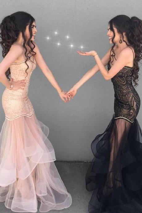 Black Prom Dress, Mermaid Prom Dress, Prom Dress Long, Black Mermaid Prom Dress BOHO429951