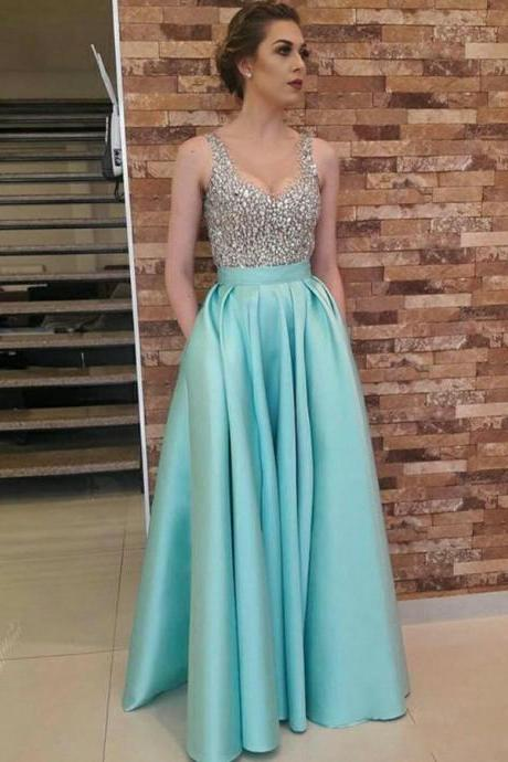 Prom Dress Blue, Prom Dress 2018, Prom Dress A-Line, Prom Dress Long BOHO4291011