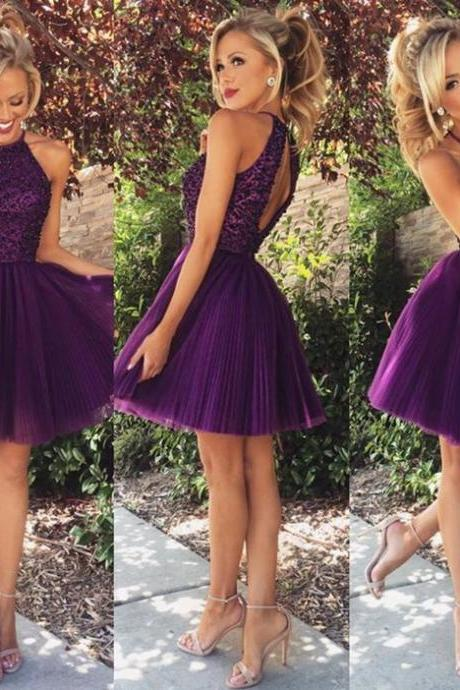 Princess Homecoming Dresses,Grape Homecoming Dress,Tulle Purple Homecoming Dress,Sexy Party Dress,Sparkly Prom Gown,Short Evening Gowns