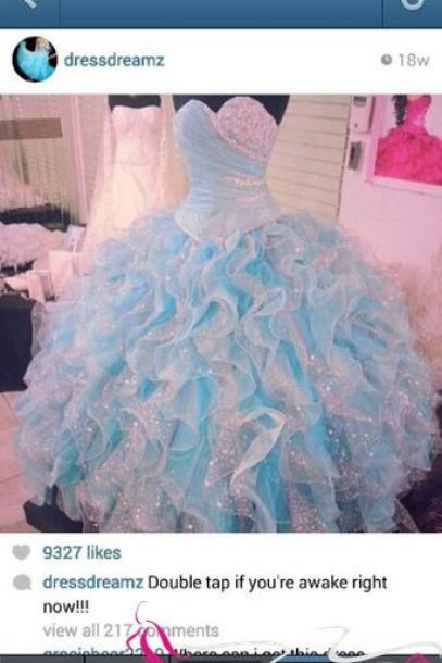 Custom Ball Gown Sweetheart Sequined Organza Floor Length Quinceanera Dress