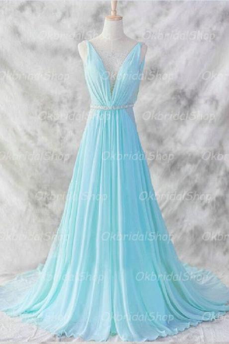 Tiffany prom dress, off shoulder prom dress, long prom dress, chiffon prom dress, prom dress 2017, 16156