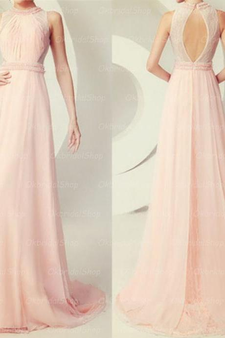 Pink prom dresses, sexy prom dress, chiffon prom dress, discount prom dress, long prom dress, prom dresses online, 15120