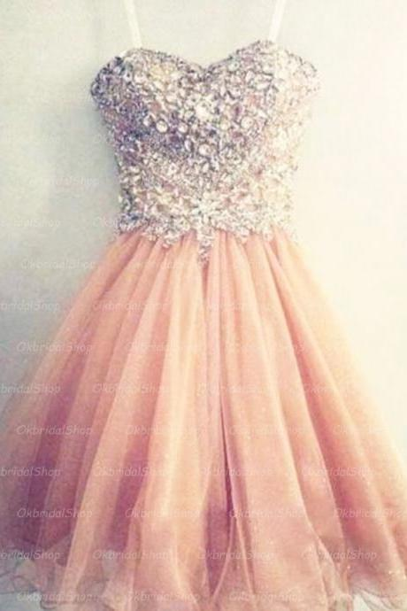 peach prom dress, short prom dress, prom dress 2017, online prom dress, 15155