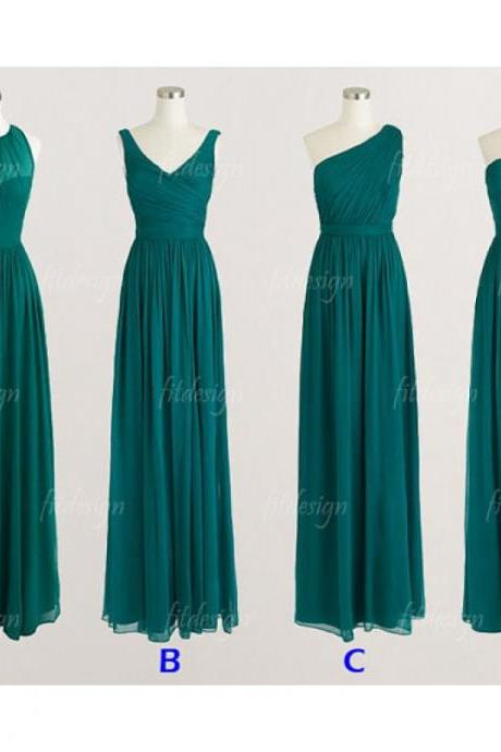 long bridesmaid dresses, Teal bridesmaid dresses, custom bridesmaid dresses, cheap bridesmaid dresses, 15231